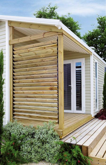 un claustra à votre terrasse de mobilhome  Mobilhome Rideau