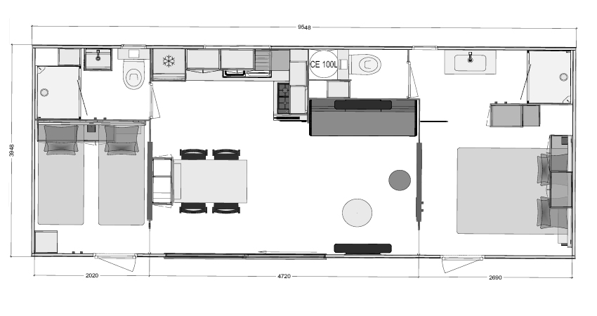 mobil homes 2 chambres otelloduo espace